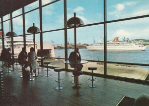Goteborg Stena Line Ship Waiting Area Terminal 1970s Postcard