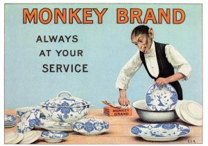 Postcard Monkey Brand - Always at your Side, Reproduction Advertising Card #53