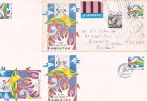 150th Anniversary of New Plymouth Zealand 3x Cover s
