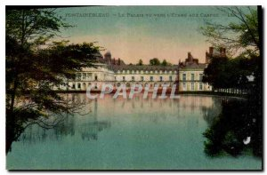 Old Postcard Fontainebleau Palace seen towards the Carp Pond