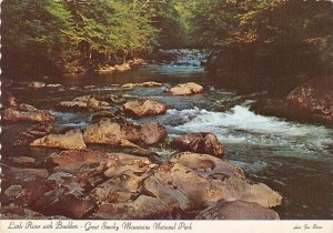 Little River With Boulders Great Smorky Mountains National Park Charlotte Nor...