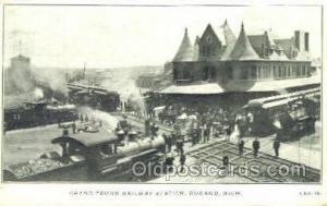 Grand Trunk RR Station, Durand, MI, Michigan, USA Train Railroad Station Depo...
