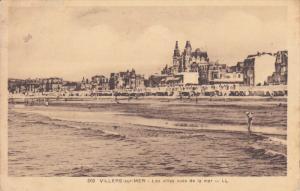 VILLERS-sur-MER, Les Villas vues de la mer, Calvados, France, PU-1934