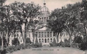 State Capitol, Augusta, Maine, Early Postcard, Unused