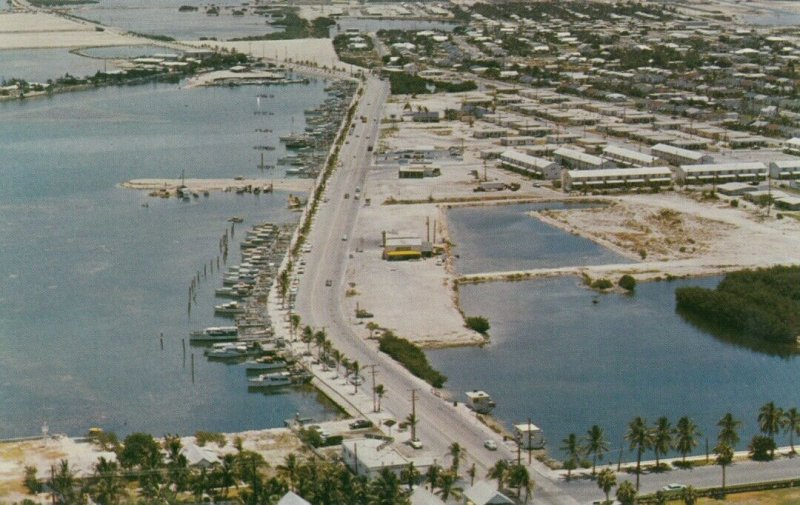 KEY WEST , Florida , 1960 ; Airview of Roosevelt Boulevard and Stock Island