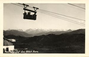 austria, KITZBÜHELER HORN, Tyrol Tirol, Seilbahn (1940s) RPPC Postcard