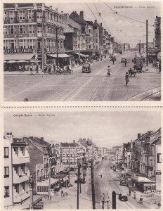 Coxyde Bains Route Royale 2x Shopping Centre Belgium Postcard s