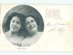 Divided-Back PRETTY WOMAN Risque Interest Postcard AA7921