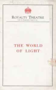 The World Of Light Drama Aldous Huxley Fabia Drake London Theatre Programme