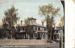 Augusta Maine~James B Blaine Residence~Governor~Neighborhood~1910 Postcard