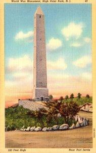 New Jersey Hight Point Park World War Monument Curteich