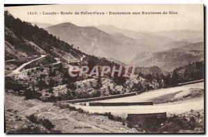 Old Postcard laces Peira Cava excursion around Nice
