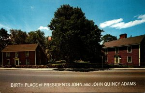 Massachusetts Quincy Birthplace Of Presidents John and John Quincy Adams