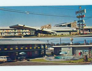 Pre-1980 OLD CARS & LAMPLIGHTER LODGE MOTEL Red Bluff California CA ho4574