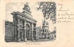 BR92994 portail de l archeveche tours  france