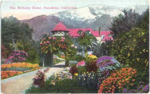 The McNalley Home in Pasadena California CA, Divided Back