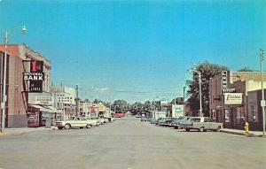 Limon CO Street View Storefronts Old Cars Postcard