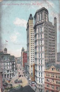 New York City Park Row Showing Post Office 1912