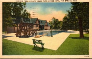 Tennessee Tate Springs Hotel Swimming Pool and Bath House 1946