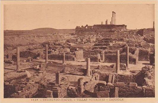 Tunisia Thuburbo-Majus Villas Romaines Capitole