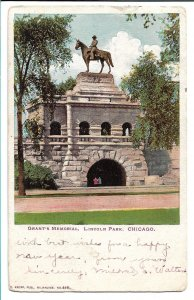 Chicago, IL - Grant's Memorial, Lincoln Park - 1904 - to Italy