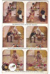Vintage Postcard The Industrious Painter and Idle Apprentice, comedy Stereoscope