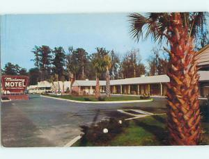 Unused 1950's OLD CARS & MIDWAY MOTEL Midway Georgia GA s6186