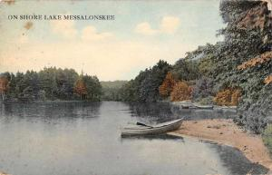 Lakeside Maine Lake Messalonskee Scenic View Antique Postcard J72696