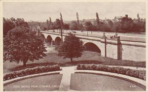 Eden Bridge From Stanwix, CARLISLE, Cumbria, England, UK, 1910-1920s