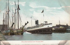 CHICAGO, Illinois, 1901-07 ; Steamship EASTLAND & Chicago River