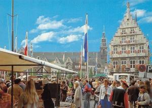 Netherlands Gouda Een Donderdagochtend in Gouda Market Place Terrace