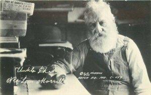 Notch Missouri Uncle Ike 1940s Morrill #C-459 RPPC Photo Postcard 21-7424