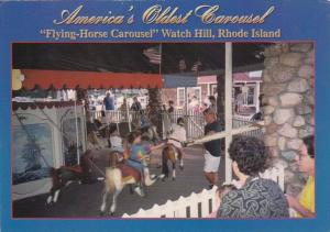 Rhode Island Watch Hill Flying Horse Carousel Americas Oldest Carousel