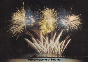 Pains Fireworks Display at Toronto Canada Limited Edition Postcard