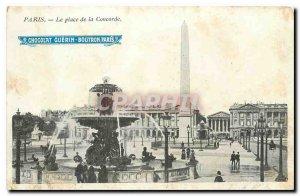 Old Postcard Paris, Place Concorde Paris Chocolate Guerin Boutron