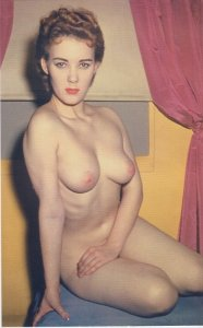 TOPLESS WOMAN BEAUTY full face view / 1950s / NUDE - reprint