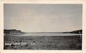LPS52 Soap Lake Washington Lake View Postcard RPPC