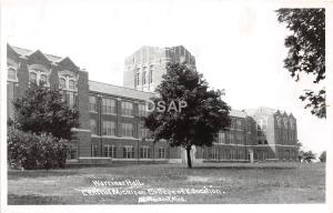 C54/ Mt Mount Pleasant Michigan RPPC Postcard 40s Warriner Hall Central College4