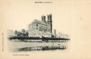CPA MANTES-la-JOLIE-Abside de Notre-Dame (260626)