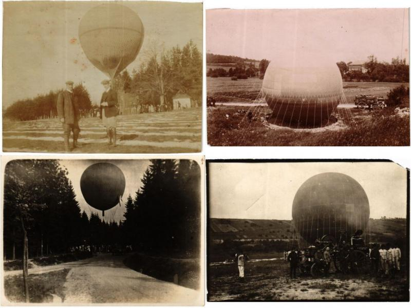 BALLONS, BALLOONS AIRCRAFT AVIATION 24 PHOTOS & LITHO TRADE CARDS