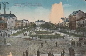 Ukraine Lviv Lwow Ulica Karola Ludwika damage early postcard