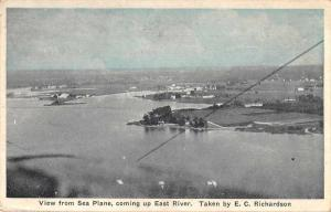 Auburn Indiana East River  View from Sea Plane Antique Postcard J2531256