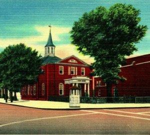 Salem Nj Nuevo Jersey Salem County Tribunal Casa Unp Vtg Lino Tarjeta Postal