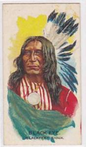 B A T Vintage Cigarette Card Indian Chiefs No 27 Black Eye Blackfeet Sioux Tr...