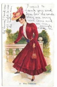 Archie Gunn Miss Cleveland Beautiful Woman Vintage Postcard