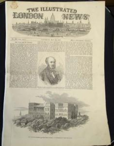 "Saturday, May 13, 1854 copy of ""The Illustrated London"