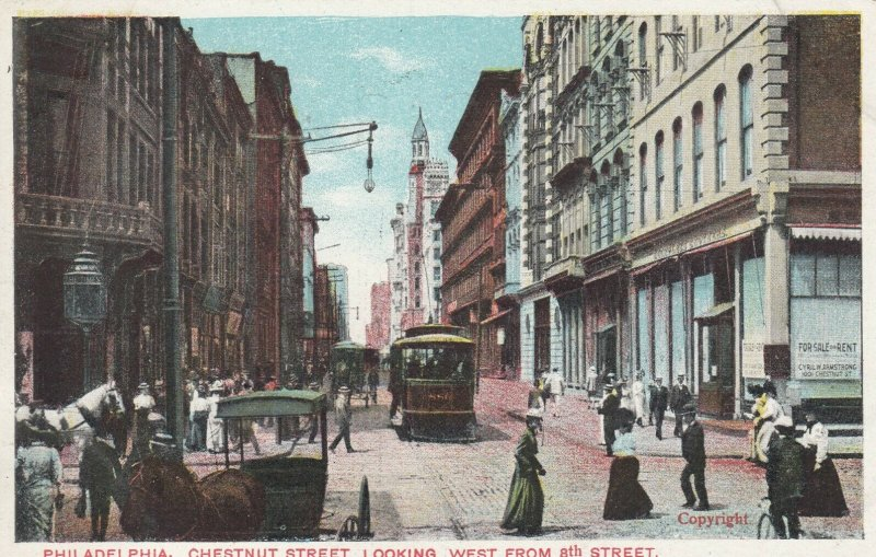 PHILADELPHIA, Pennsylvania, 1901-07; Chestnut Street, Looking West from 8th St.