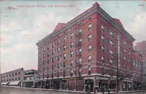 Iowa Des Moines Chamberlain Hotel 1910