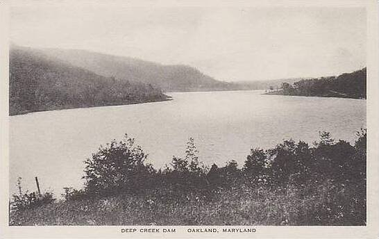 Maryland Oakland Deep Creek Dam Albertype