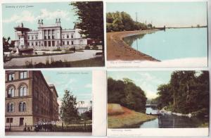 P377 JL postcard 4 old sweden wenersborg, christianstad, stockholm, lund univ